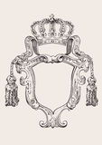 One Color Crown Insignia Isolated. Royalty Free Stock Image