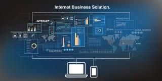 Online bedrijfsachtergrond Stock Foto's