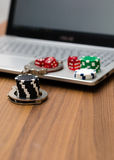 Online gambling addiction Stock Images