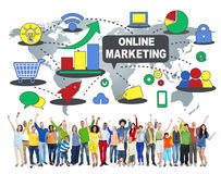 Online Marketing Commerce Global Business Strategy Concept Stock Photos