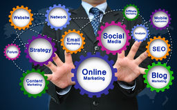 Online-Marketings-Konzept Stockfoto