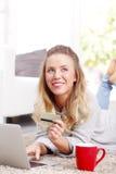 Online-Zahlung Stockbilder