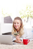Online-Zahlung Stockfoto