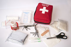 Open first aid kit Royalty Free Stock Photos