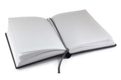 Opened planner Stock Image