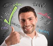 Optimism in business Royalty Free Stock Photo