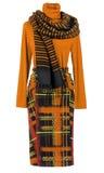 Orange blouse and skirt Royalty Free Stock Photos