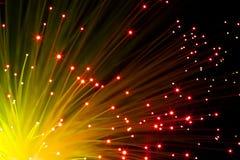 Orange optic fibers Stock Photography
