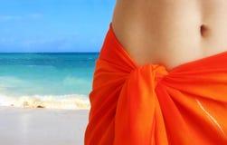Orange skirt Stock Photos