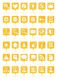Orange web icons set Stock Photography