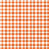 Orange White Gingham Royalty Free Stock Photos