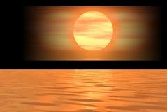 Oranje embleembanner Stock Foto