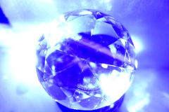 Orb or globe in blue Royalty Free Stock Photo