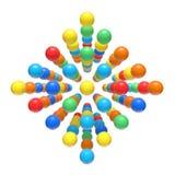 Orbes infantiles coloridos flotantes Imagenes de archivo