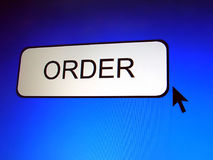 Order Button Royalty Free Stock Image