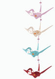Origami cranes Stock Images