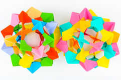 Origami modular sphere Royalty Free Stock Images