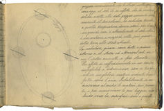 Original astronomy notebook page Royalty Free Stock Photo