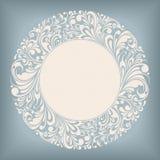 Ornament Circle Label Stock Photo