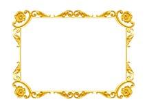 Ornament elements, vintage gold frame floral designs Royalty Free Stock Photo