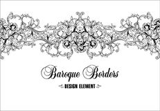 Ornamental border, frame. Baroque pattern. Vector seamless. Royalty Free Stock Photos