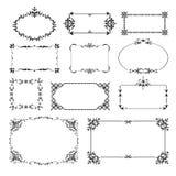 Ornamental design corners set Royalty Free Stock Images
