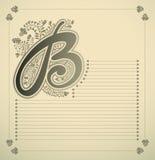 Ornamental letter - B Stock Photos