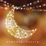 Ornamental moon with lights, Ramadan  illustration Stock Images