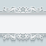 Ornamental paper frame Stock Photography