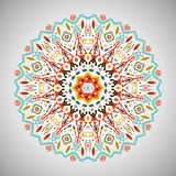 Ornamental round geometric pattern in aztec style Royalty Free Stock Photography