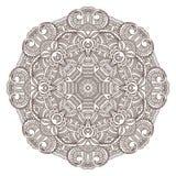 Ornamental round lace pattern Stock Photo