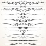 Ornamental Rule Lines in Different Design Stock Photos