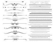 Ornamental rule lines in different design Royalty Free Stock Images