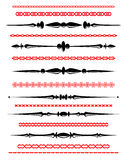 Ornamental rule lines in different design Royalty Free Stock Image