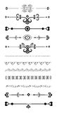 Ornamental rule lines Stock Photo