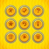 Os botões do jogo com ícones ajustaram 2 Imagem de Stock Royalty Free