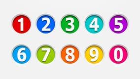 Os números dos ícones ajustaram #2 Foto de Stock Royalty Free