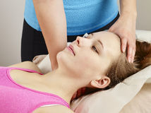 Osteopathy treatment Stock Photography