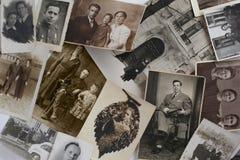 Oude Uitstekende Foto's Royalty-vrije Stock Fotografie