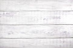 Oude witte houten achtergrond, rustieke houten oppervlakte met exemplaarruimte Stock Foto