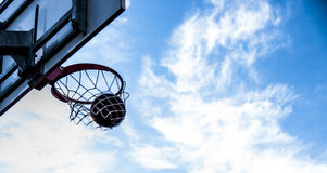 Outdoor basketball details Royalty Free Stock Photos