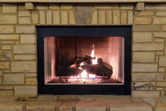 Outdoor Fireplace Stock Photo