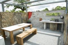 Outdoor kitchen Royalty Free Stock Photo