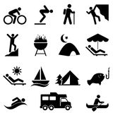 Outdoor leisure and recreation icons Royalty Free Stock Photo