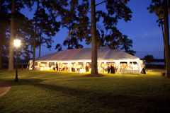 Outdoor wedding reception Royalty Free Stock Images