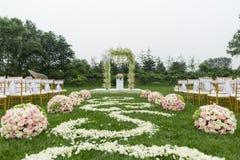 Outdoor wedding Scene Stock Photos