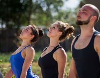 Outdoor yoga Royalty Free Stock Image
