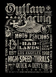 Outlaw Racing vintage poster t-shirt graphic Royalty Free Stock Images