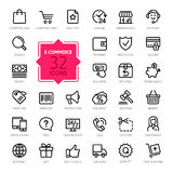 Outline web icons set - E-commerce Stock Photos