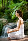 Outside Yoga Royalty Free Stock Photos